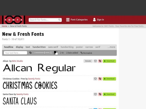 1001 Fonts · Free Fonts Baby!