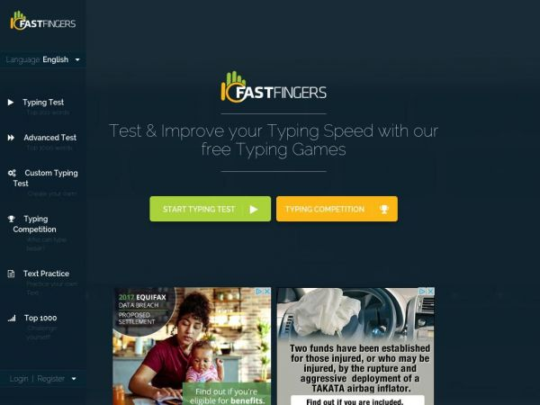 10FastFingers.com - Typing Test, Competitions, Practice & Typing Games