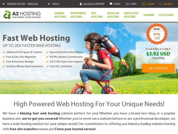 Hosting Website | 20X FASTER Web Hosting | WordPress Hosting