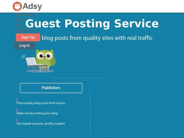 Guest Posting Service, High Quality Dofollow Sites - Adsy
