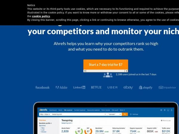 ahrefs.com - Ahrefs: Competitor Research Tools & SEO Backlink Checker