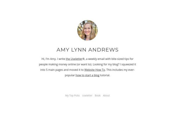 Amy Lynn Andrews - I teach people how to blog.
