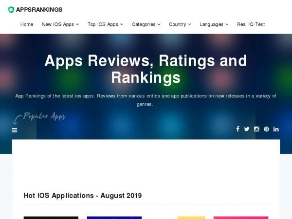 appsrankings.com Discover Apps - IOS Apps Review Centre - Apps Rankings!