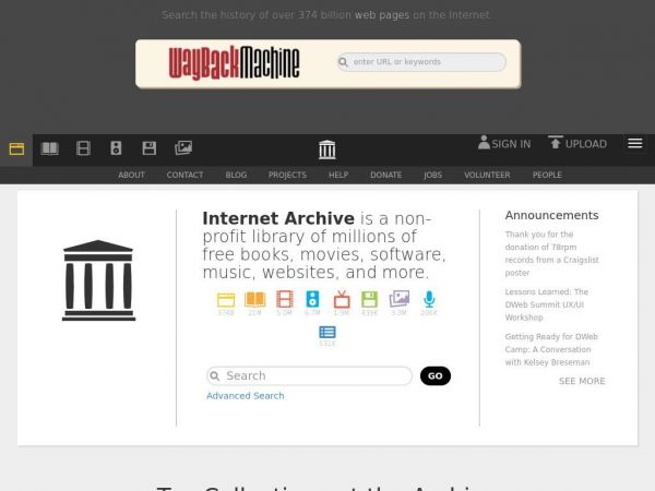 archive.org Internet Archive: Digital Library of Free & Borrowable Books, Movies, Music & Wayback Machine