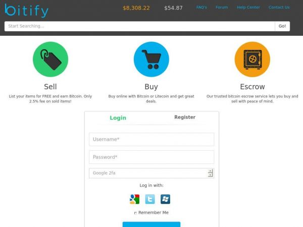 bitify - Bitcoin and Litecoin Marketplace and Auction Site