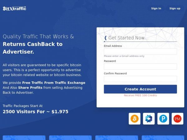 BitxTraffic | Free & Quality Traffic Targeted to All Worldwide Bitcoin Users