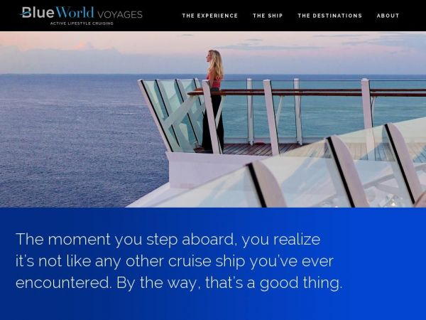 Blue World Voyages | The world's first cruise line fully dedicated to sports and wellness.