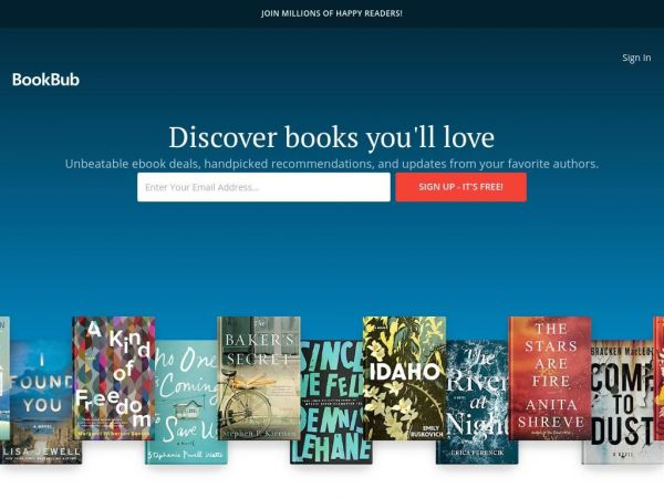 BookBub: Get ebook deals, handpicked recommendations, and author updates