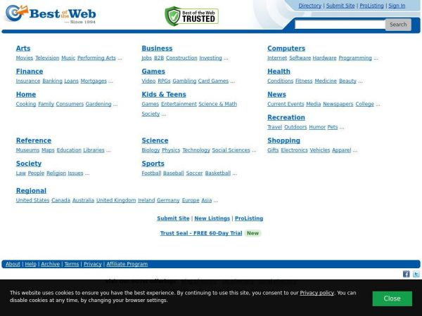 Best of the Web Directory