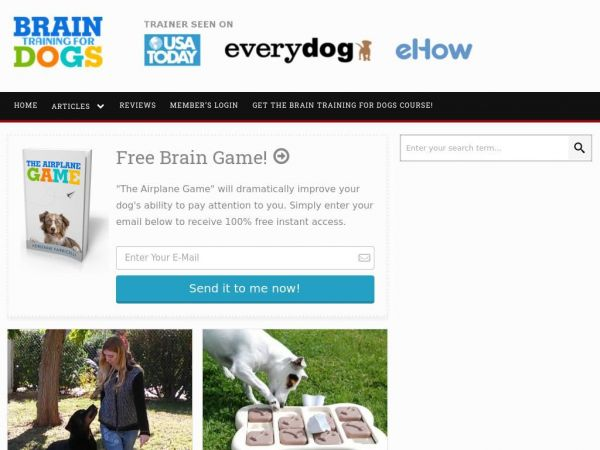 Brain Training for Dogs | By Adrienne Farricelli