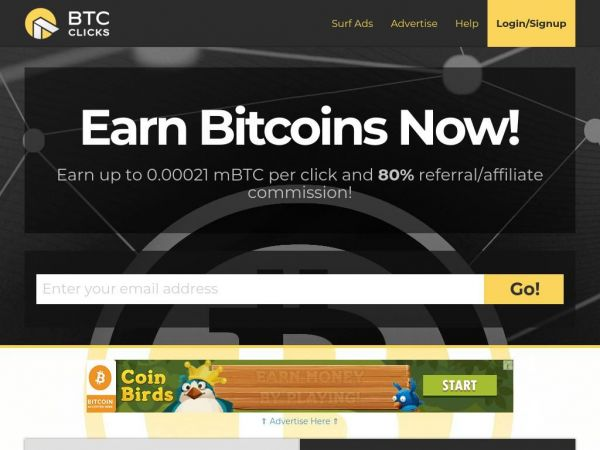 Bitcoin PTC - Earn BTC for Viewing Ads | BTCClicks