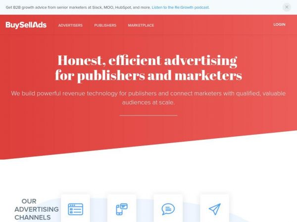 buysellads.com - Advertising Solutions for Publishers and Marketers | BuySellAds