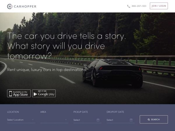 Rent a luxury car with CarHopper in Miami, Los Angeles, Las Vegas