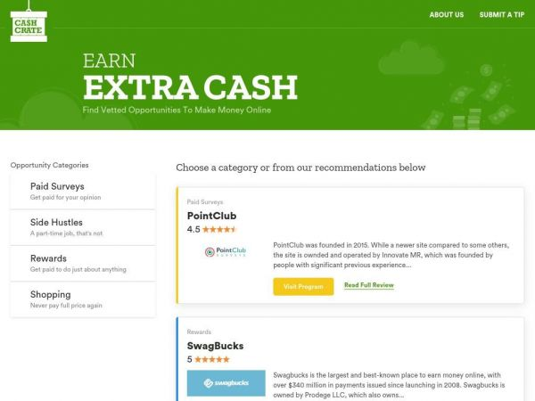 Make Money Online With Verified Programs | CashCrate