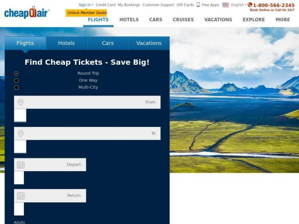 Cheap Airline Tickets, Hotels & Car Rentals | CheapOair