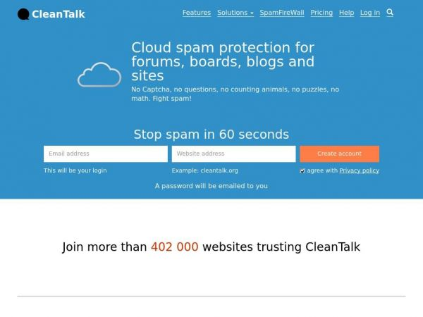 Anti-spam plugins for websites by CleanTalk & spam IP address database