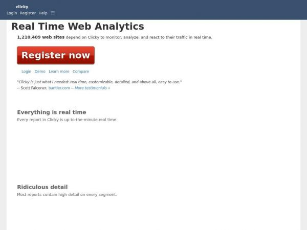 Web Analytics in Real Time | Clicky