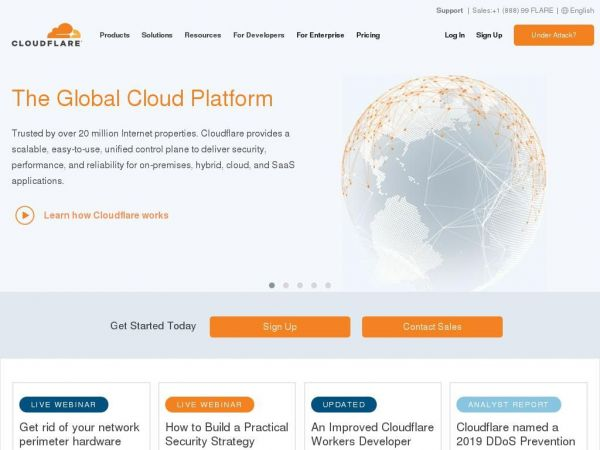 cloudflare.com - Home | CloudFlare | The web performance & security company