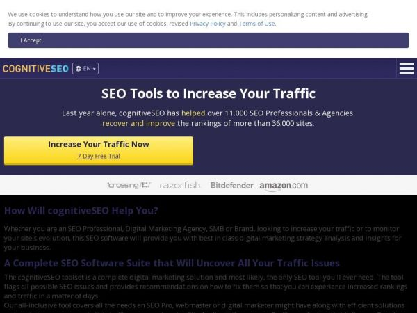 SEO Tools to Increase Your Traffic - cognitiveSEO