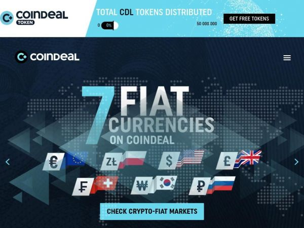 CoinDeal – exchange platform | Buy and trade digital currency