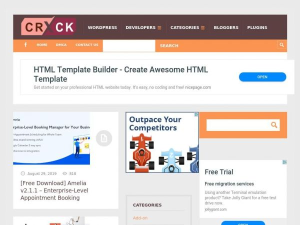 Crack Themes - Nulled Wordpress themes free download |Themes | Plugins | Script