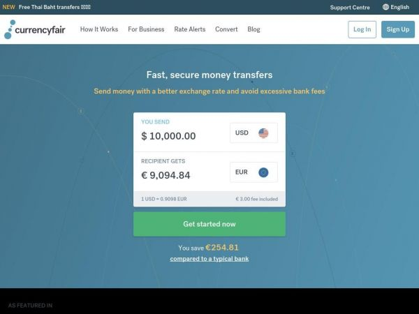 Send Money Abroad | Transfer Money Online with CurrencyFair