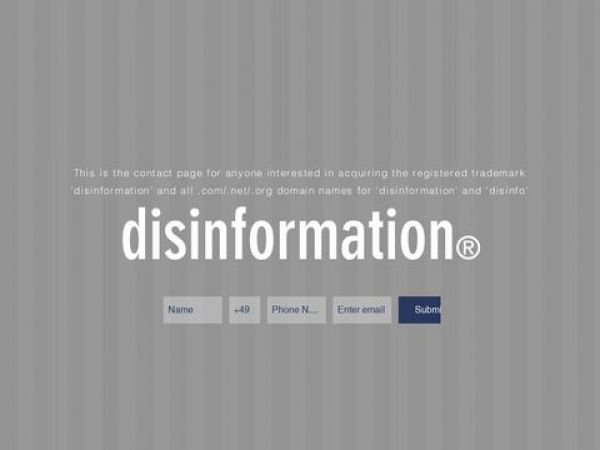 disinformation | everything you know is wrong