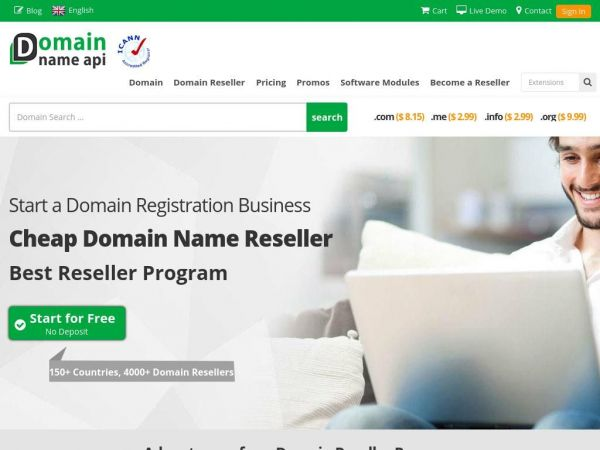 Become a Domain name Reseller For Free - Domain name API