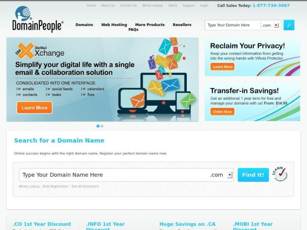 Domain name Registration and Web Hosting | DomainPeople