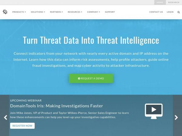 DomainTools | Cyber Threat Intelligence | Threat Investigation Platform