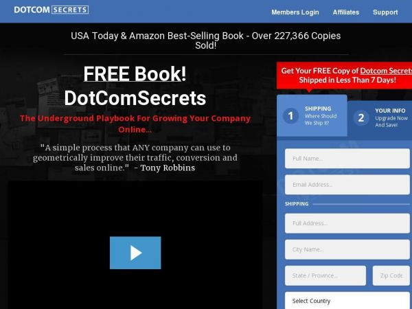 FREE BOOK - DotComSecrets, The Underground Playbook For Growing Your Company Online...
