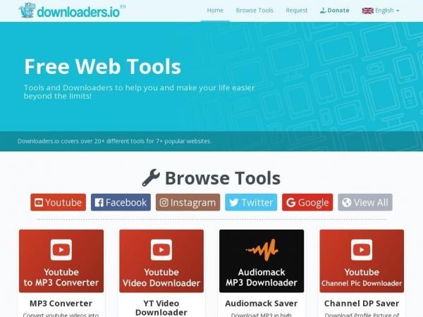 Downloaders.io - Free tools for web apps