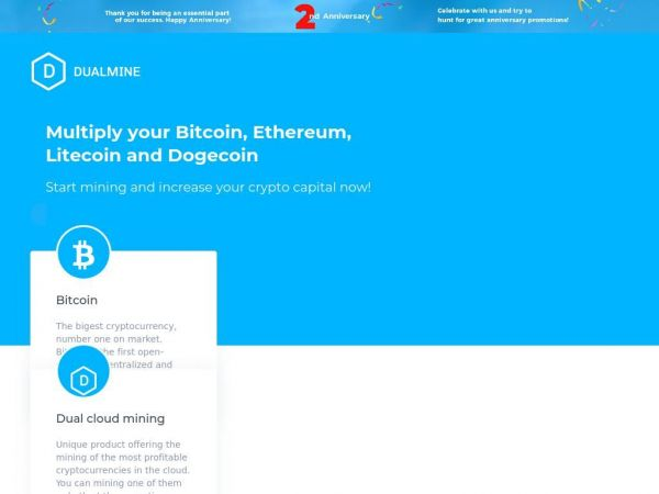 Dualmine - Multiply your Bitcoin, Ethereum, Litecoin and Dogecoin