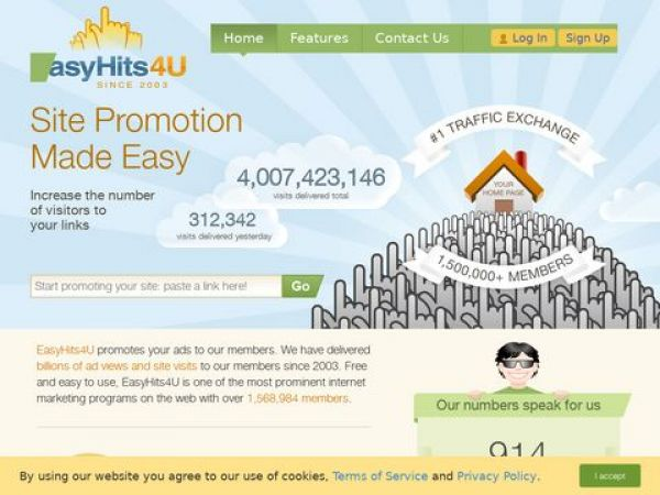 easyhits4u.com - EasyHits4U.com - Your Traffic Exchange, 1:1 Exchange Ratio, Manual Surfing, Innovative Referral Program. FREE Traffic!