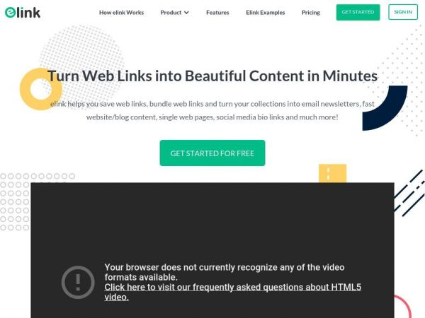 elink | Newsletter Creator, Web Page Builder, Bookmarker