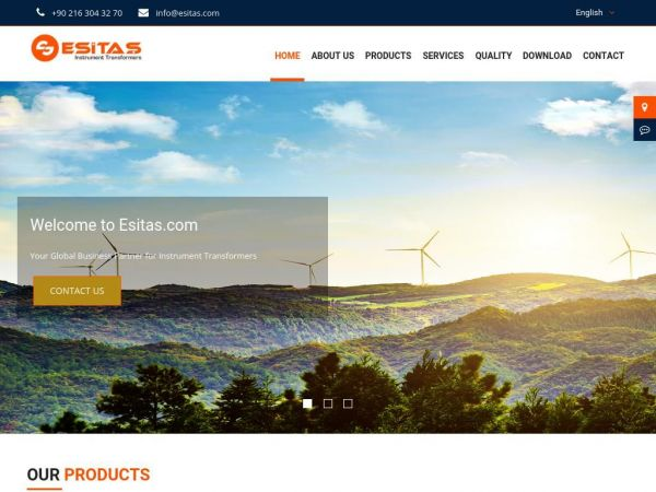 esitas.com.tr Esitas |  Current Transformers | Voltage Transformers | Epoxy Insulator