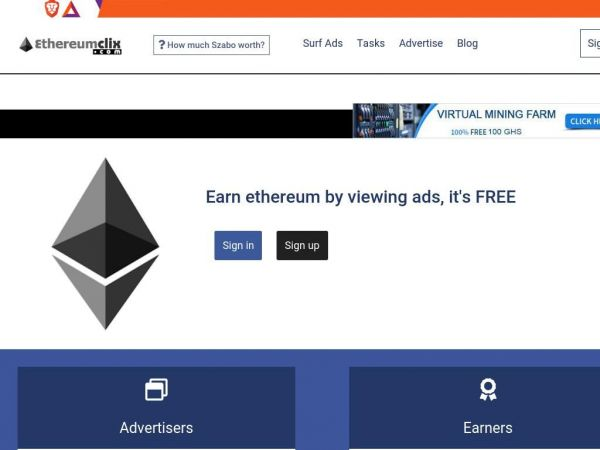 EthereumClix - Ethereum Paid To Click Service
