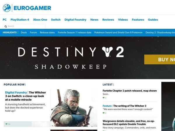 eurogamer.net - Eurogamer.net • Video game reviews, news, previews, forums and videos • Eurogamer.net