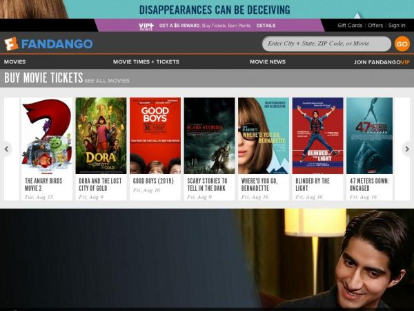 Movie Tickets & Movie Times | Fandango
