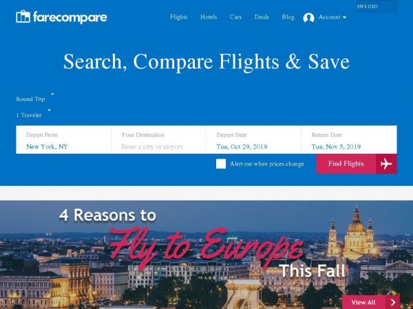 farecompare.com - Flight Comparison, Compare Flight Prices & Airline Tickets - FareCompare
