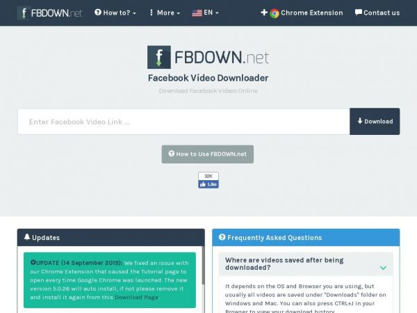 fbdown.net - Facebook Video Downloader Online