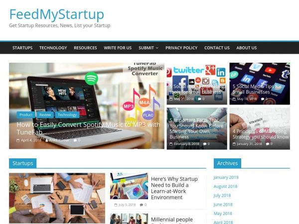 FeedMyStartup | Get Startup Resources, News, List your Startup
