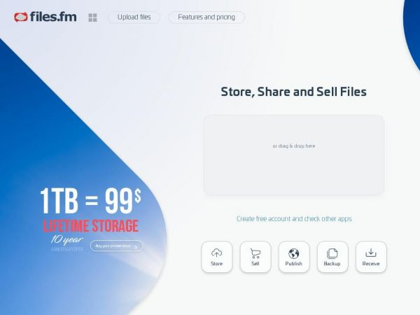 files.fm - File upload, sharing and cloud backup online service.