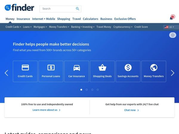finder.com – Countless comparisons to help you make better decisions