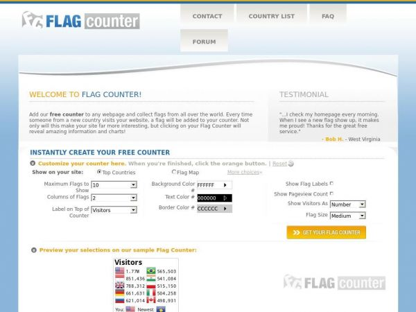 Flag Counter - Free counters - Instant, easy and fun!