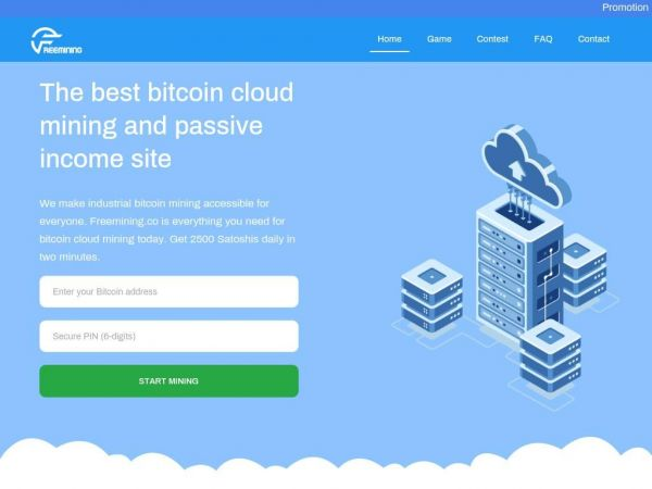 Freemining.co - The best bitcoin cloud mining and passive income site