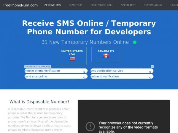 Receive SMS Online |  (2019) Working Temporary Phone Numbers for testing