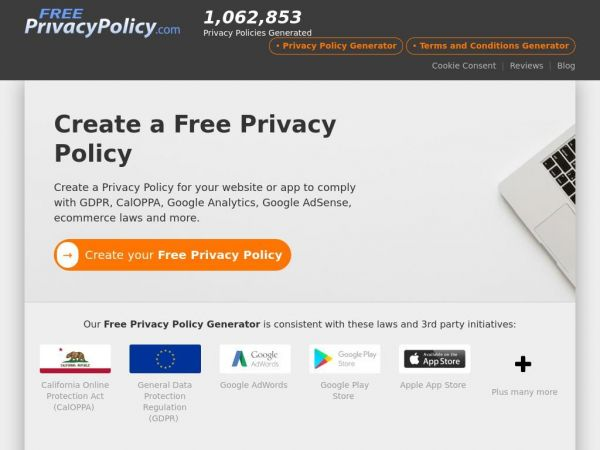 Free Privacy Policy Generator & Template with GDPR - FreePrivacyPolicy