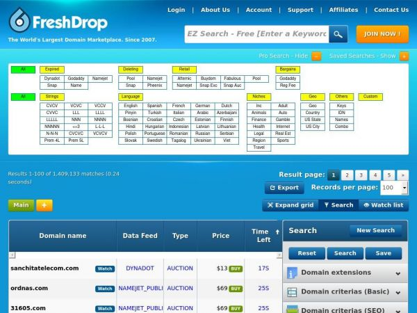 FreshDrop.com | Expired or Dropped Domains | Domain name Search