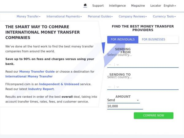 International Money Transfer - Compare and Save | FXcompared